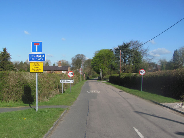 The Only Road to Buckland Village