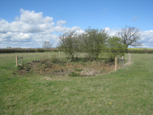 Pond in Muston Meadows National Nature Reserve
