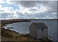 ND1443 : Fishing hut, Loch Ruard, Caithness by Claire Pegrum