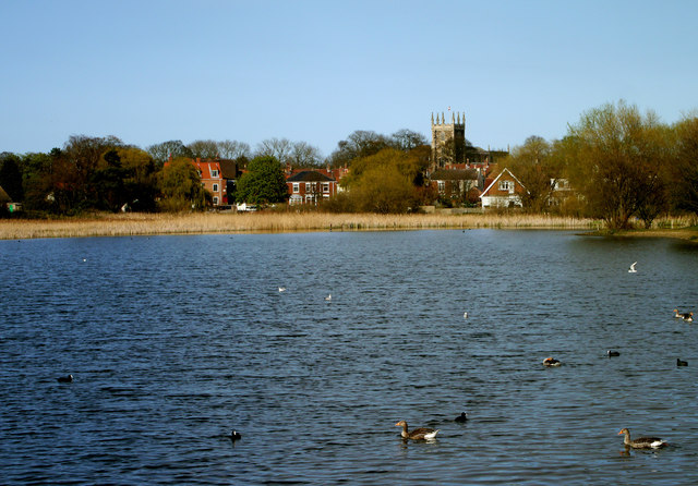 Hornsea Mere and Church