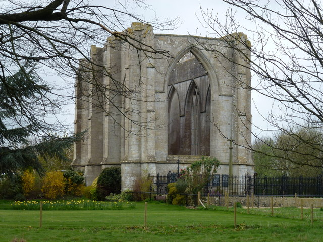 The remains of Wykeham Chapel near Spalding