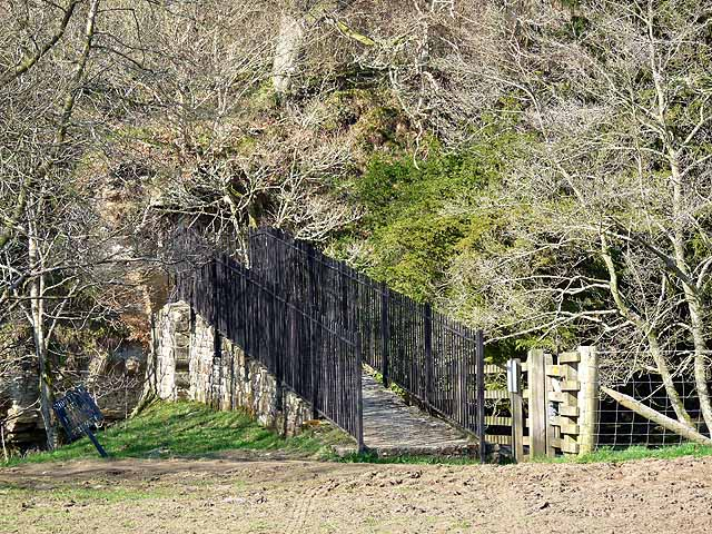 Old suspension bridge, Plankey Mill