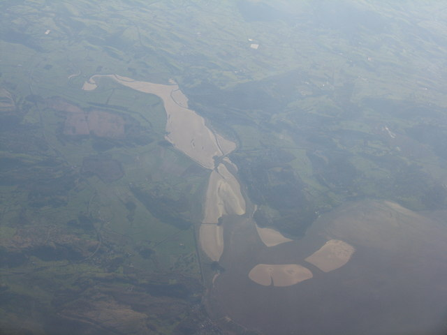 Arnside and the Kent Estuary from the air