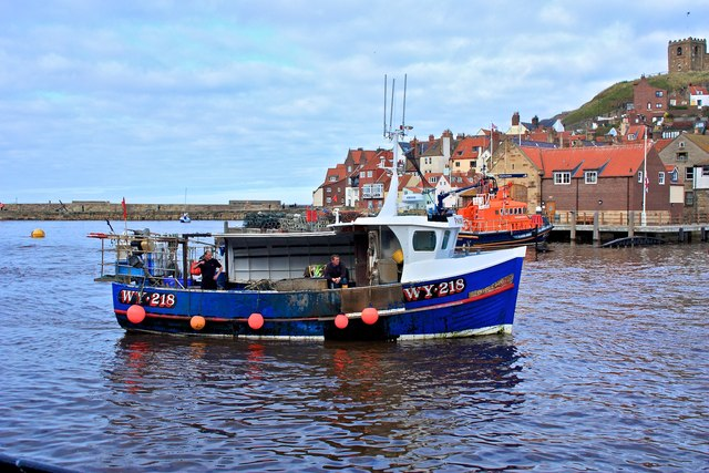 Fishing Boat Whitby Harbour Paul Buckingham Geograph