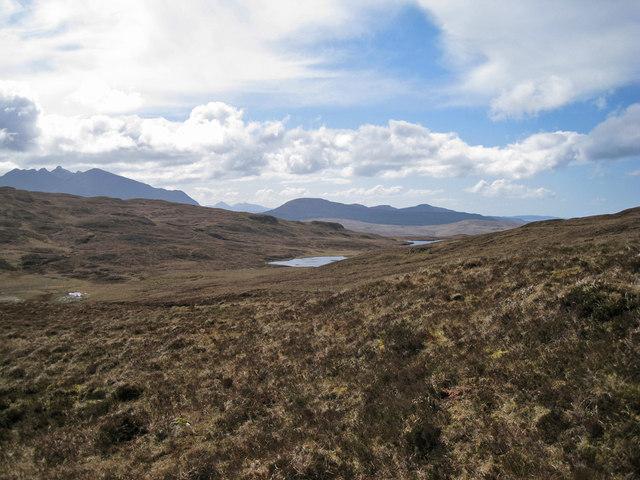 Moorland north of Rèidh nan Loch