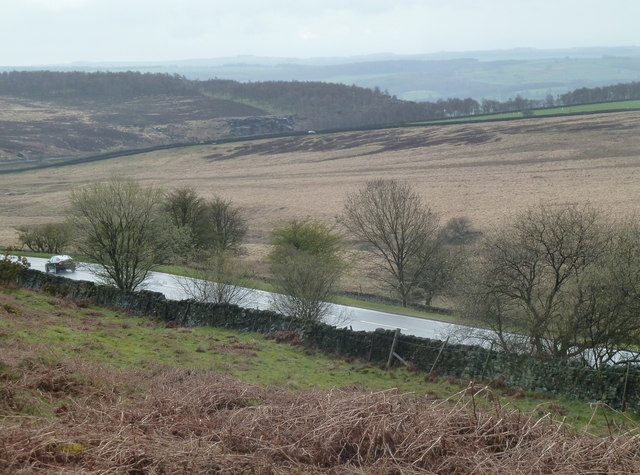 Moorland views across the A621