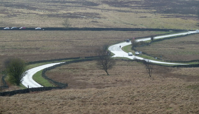 Moorland with road and lanes