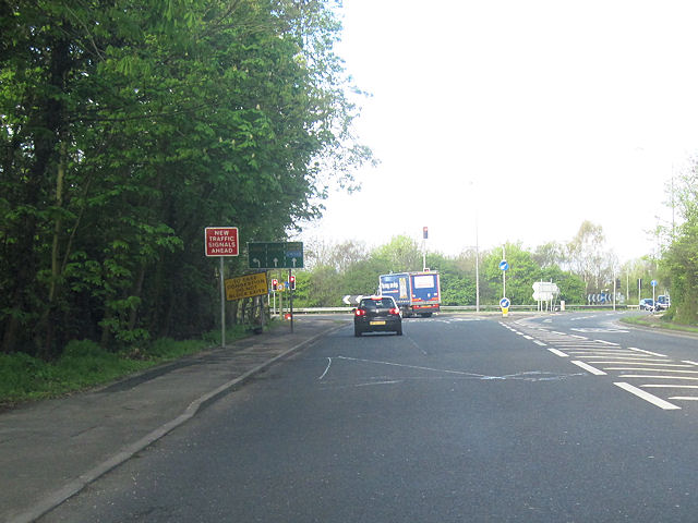 A51 west interchange with A55