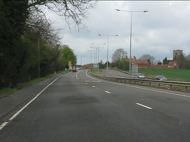 A45 approaching Ryton-on-Dunsmore