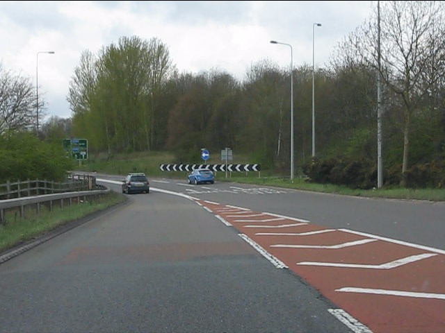 Free-flow slip road at Stivichall junction