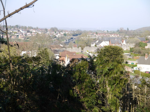 Looking north-east over Chepstow rooftops