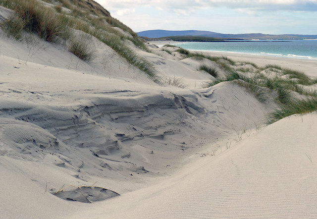 Dunes behind the long west beach of Berneray
