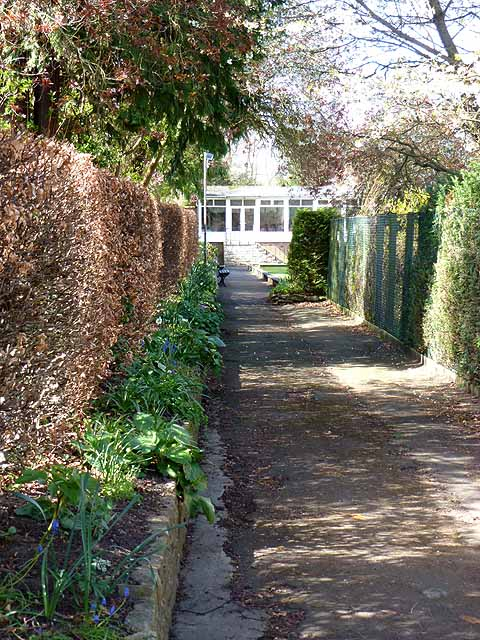 Entrance to Hexham (Elvaston) Bowling Club