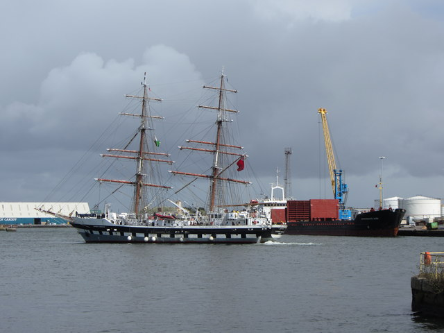 Stavros S Niarchos and Sormovskiy-3056 in Roath Dock