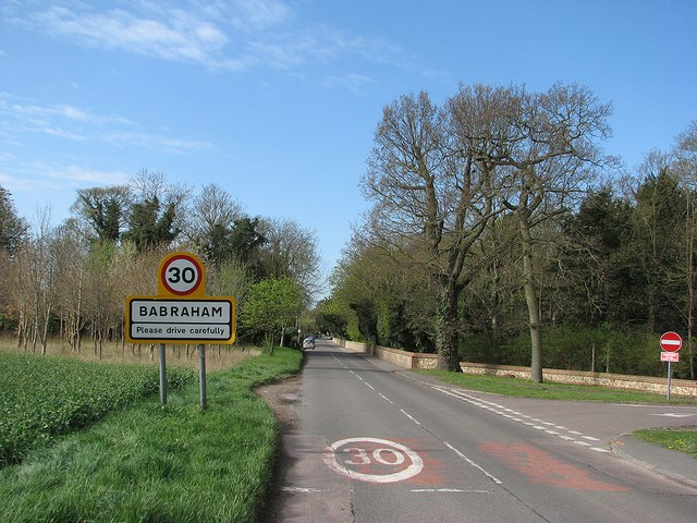 Entering Babraham in April