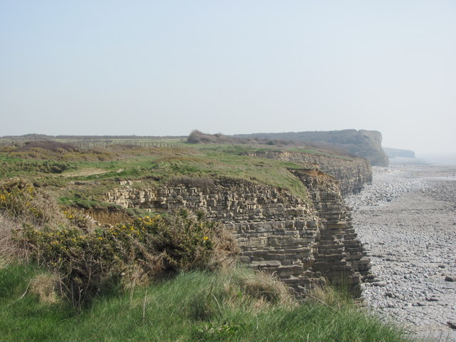 View east along Glamorgan Heritage Coast