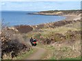 NT4783 : Path down to Gullane Bay by Oliver Dixon