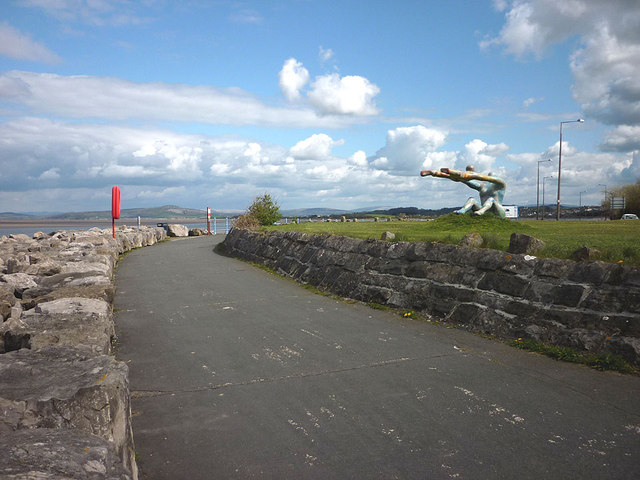 The Morecambe promenade by Venus and Cupid
