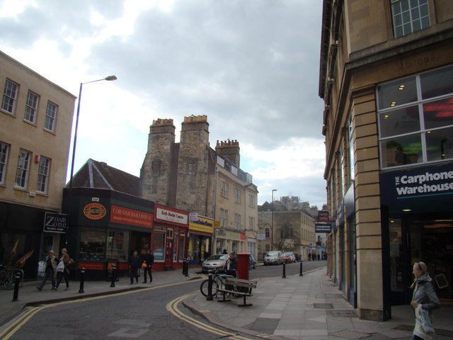 View up Lower Borough Walls from Stall Street