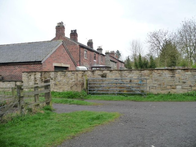 Houses alongside the old railway line, Lintz Green