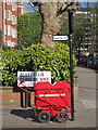 TQ2682 : Royal Mail trolley at Scott Ellis Gardens by Oast House Archive