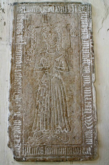 Incised Slab, St Lawrence church, Sedgebrook
