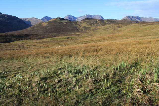 Boggy ground on Beinn a' Chaoinich