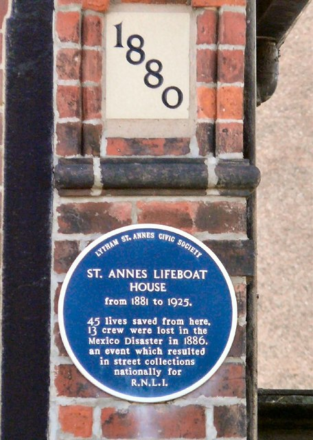 St. Annes Lifeboat House Blue Plaque