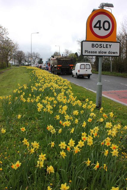 A523 Bosley crossroads