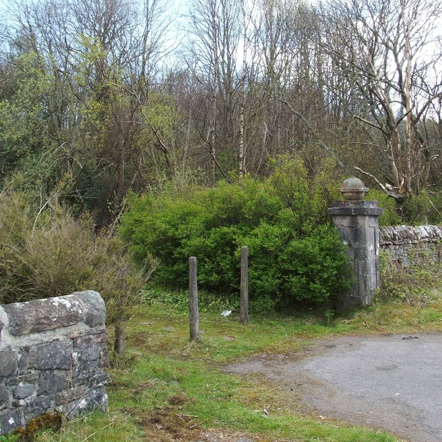 Old lodge gatepost