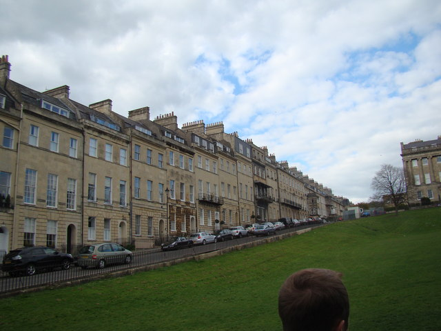 View of Marlborough Buildings from the green