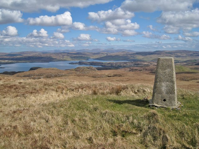 Summit of Beinn nan Dubh-lochan - NE view