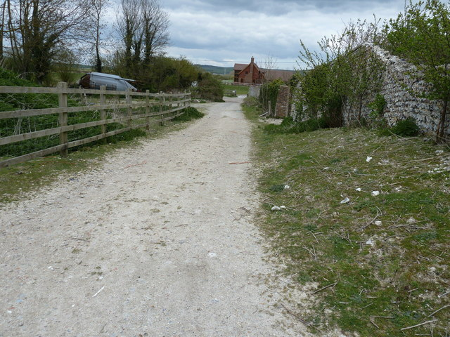 South Downs Way on the west side of Itford Farm