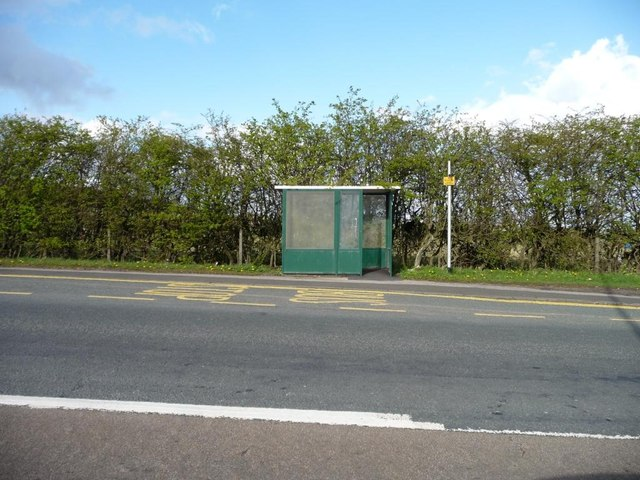 Bus stop on the B6173
