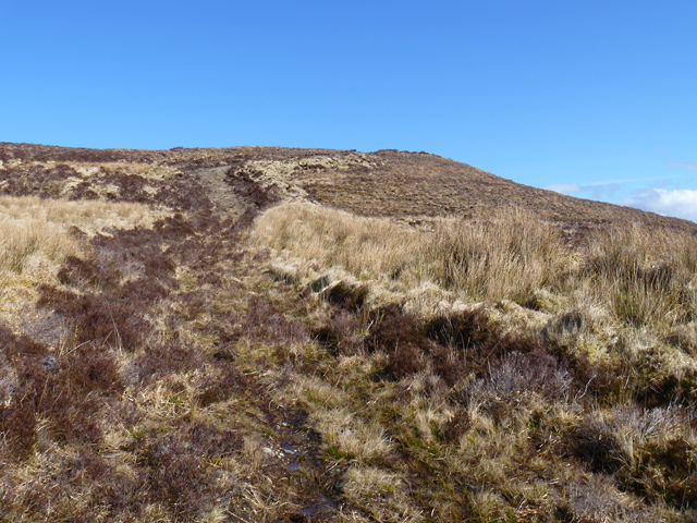 Track rising to the shoulder of Beinn Reireag Bheag