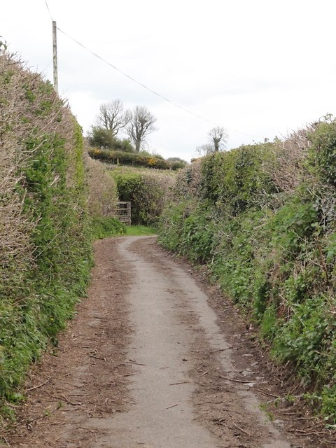 Narrow Lane below Aish Ridge