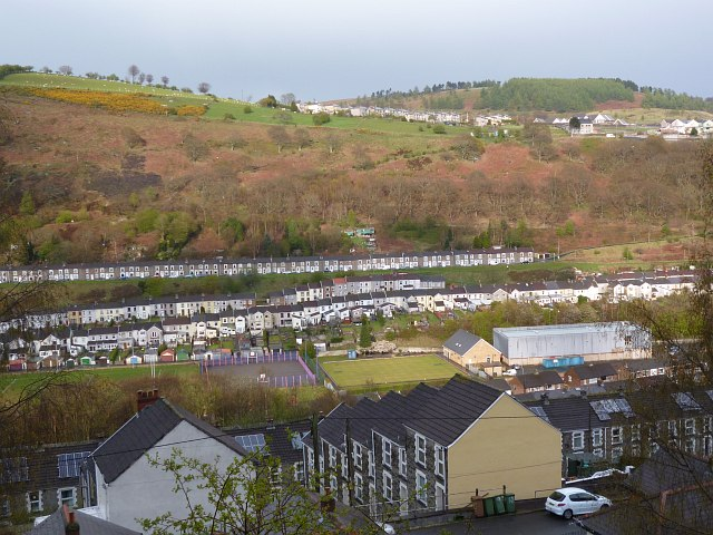 View across the Rhymney Valley, New Tredegar