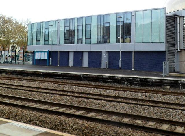 Railway station building, platform 1, Newport