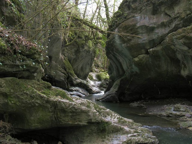 Small gorge on the river Sychryd