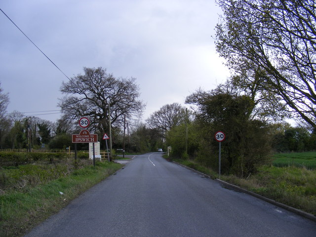 Entering Ipswich on Tuddenham Road