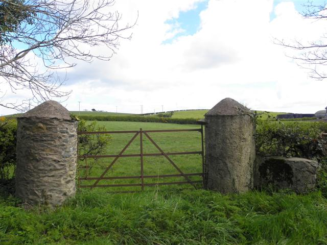 Round pillars and gate, Ballyblack