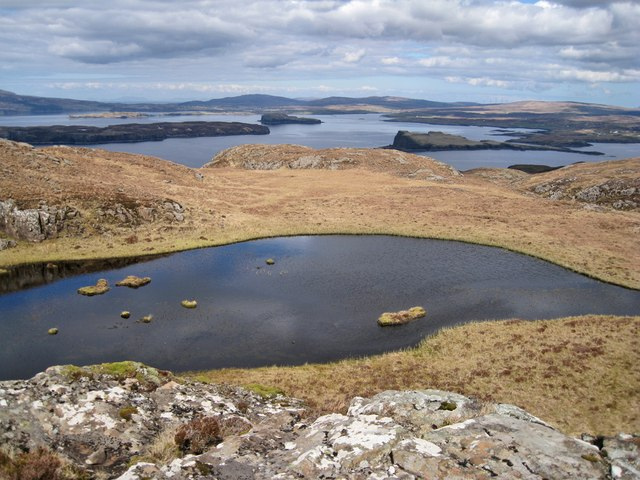 View north over a lochan
