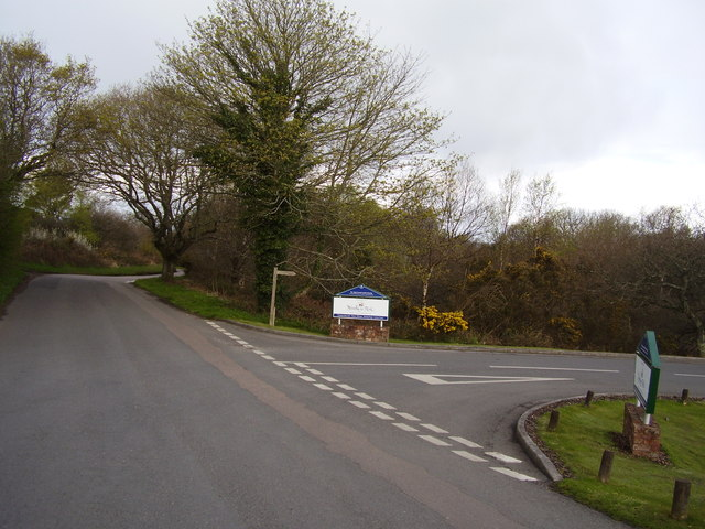 Entrance drive to Woodbury Park Golf Course