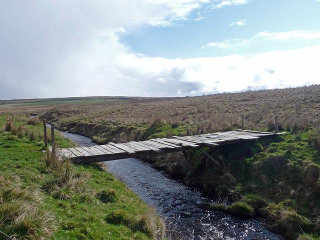 Footbridge across the Allt Reidhe Mhoir, Caithness