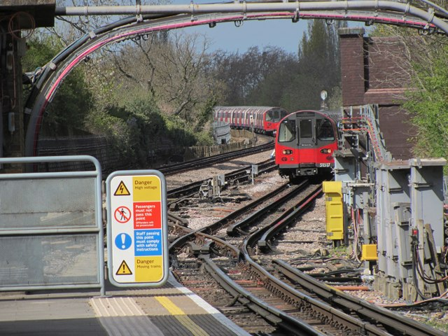 Train approaching Colindale station