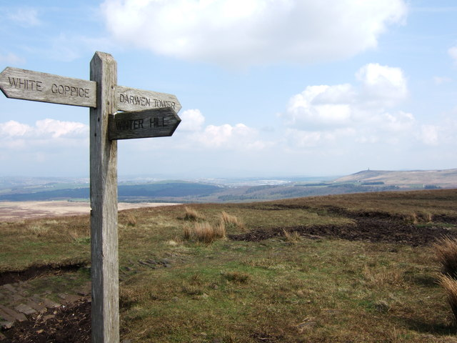 Signpost on Great Hill