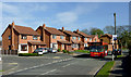 SO8995 : Housing and bus on Wakeley Hill, Penn, Wolverhampton by Roger  Kidd
