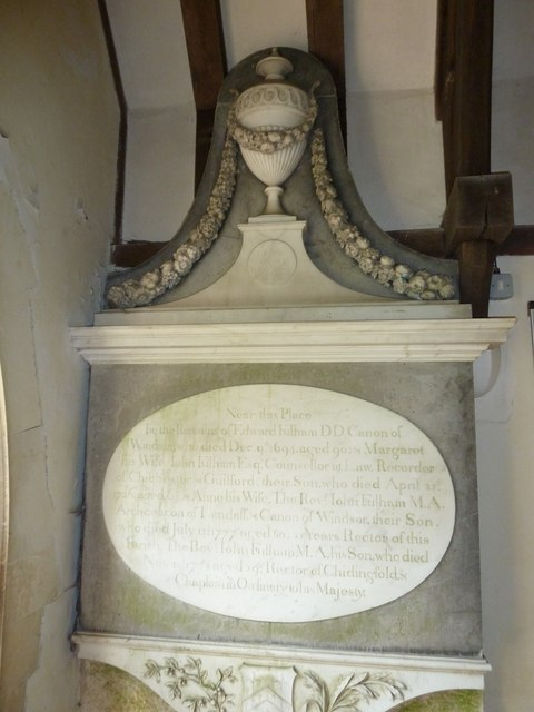 St. Nicholas, Compton: memorial in the porch