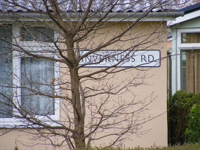 Inverness Road sign