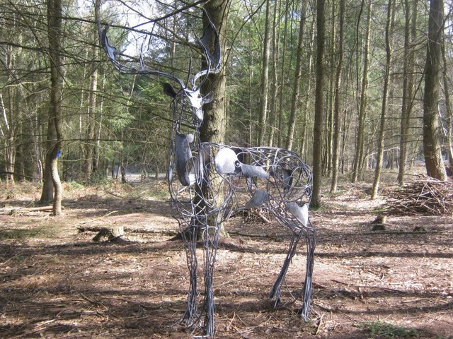 Metal Stag in the Wyre Forest
